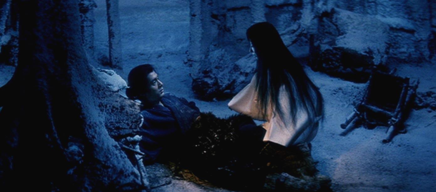 Una scena dell'episodio dedicato alla yukionna del film Kwaidan di Masaki Kobayashi (Giappone, 1964)